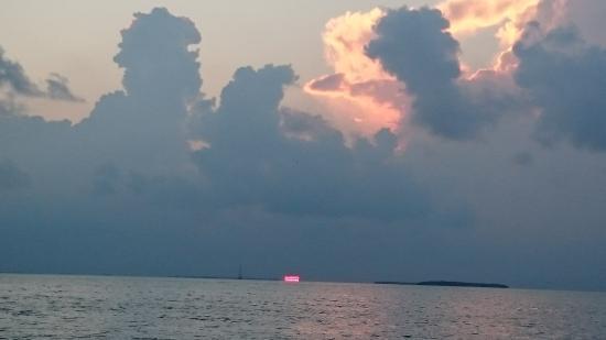 sunset from catamaran Echo 10/13/15