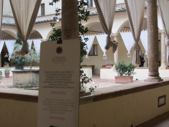 Chiostro - Foto di La Terrazza del Chiostro, Pienza - TripAdvisor
