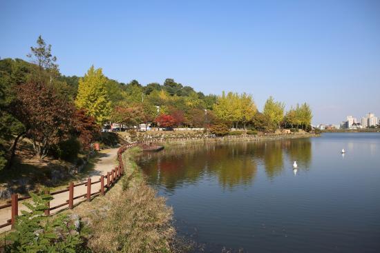 Icheon World Ceramics Center: 저수지 산책로