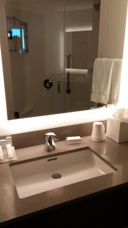 Bathroom Sinks Long Island bathroom sink with vanity mirror - picture of hilton garden inn