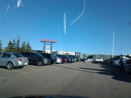 Balzac, Kanada: vista da garagem