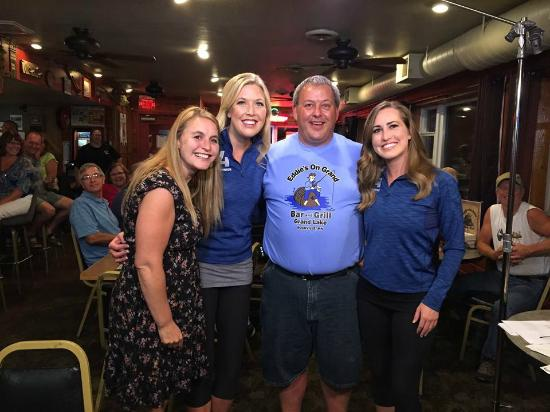 Cold Spring, MN: Eddie and his wife with the WCCO weather girls