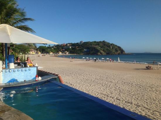 Foto De Chez Pitu Praia Hotel  B U00fazios  Vista Do Caf U00e9 Da