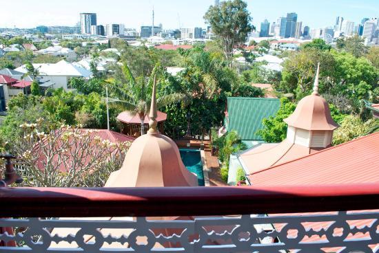 Franklin Villa: View from a verandah