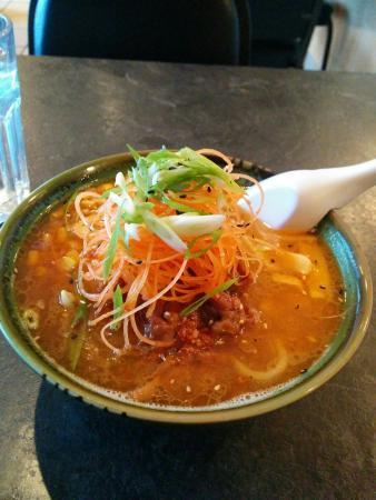 Spicy Miso Ramen with Pork Belly - Delicious! - Picture of KYU Bistro ...