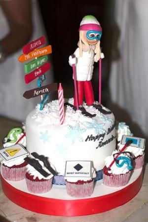 My ski birthday cake Picture of Ixora Cakes Bali TripAdvisor