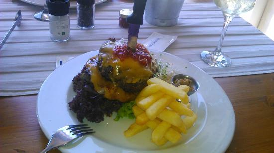 La Rosa Blu Cafe: The best best burger in George - The Stripper