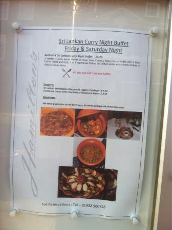 Delicious Sri Lankan buffet.  Wish we lived nearer!