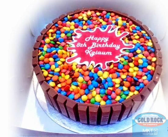 Ice Cream Birthday Cake Picture of Cold Rock Ice Creamery North