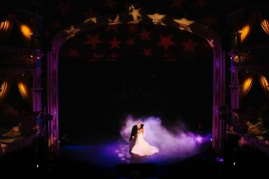 Crewe Lyceum Theatre: Wedding - first dance on stage