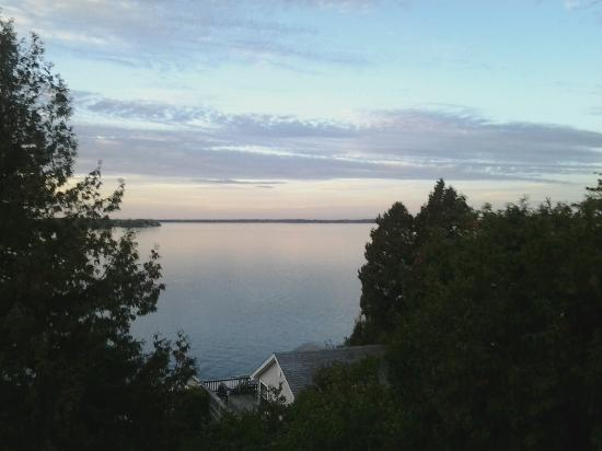 Cape Vincent, Нью-Йорк: View from deck during sunset