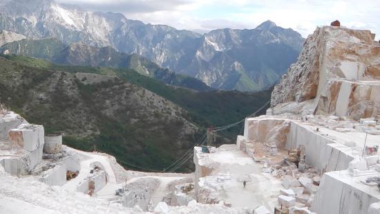 Vue De La Carri 232 Re Carrara Marble Tour Picture Of Cave