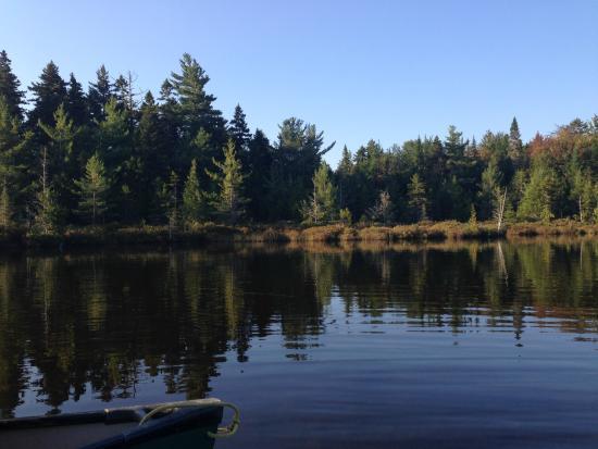Lodge at Moosehead Lake: Canoeing on our moose safari