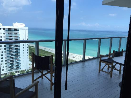 W South Beach Balcony From Living Room Of Oasis Suite