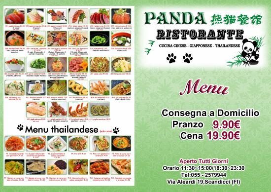 Menu foto di il panda scandicci tripadvisor for Menu cinese