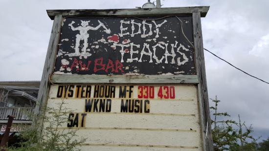 Eddy Teach's Raw Bar: Sign for Eddy Teach's