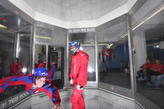 iFLY Denver Indoor Skydiving: 1st flight