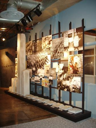 Dallas Holocaust Museum: Time line with physical bar graph shows the timing of the Final Solution