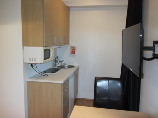 Kitchenette area of Studio apartment - Picture of Einholt ...