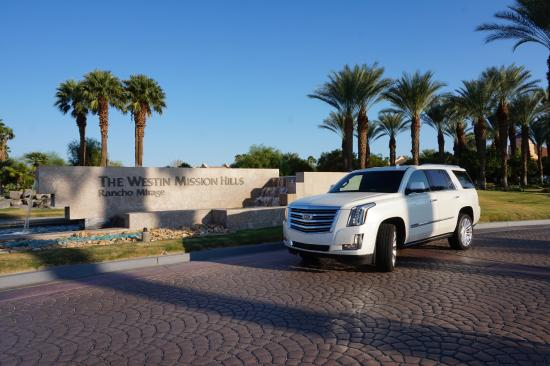 westin mission hills golf resort spa 2015 cadillac escalade platinum outside the hotel - Compact Hotel 2015