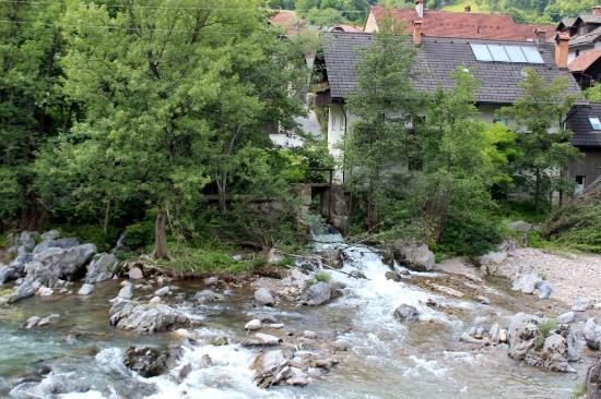 Skofja Loka, سلوفينيا: Sul fiume