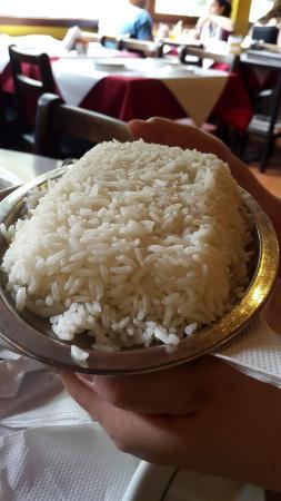 Porção de arroz...