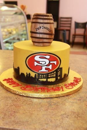 49ers and Jack Daniels Birthday Cake for a Man Picture of Cest