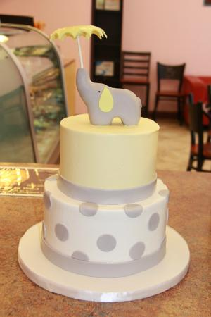 Elephant Babyshower Cake Picture Of C Est Si Bon Bakery San Jose