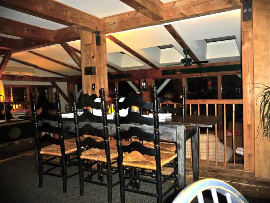 Inn at Weathersfield: one of the dining tables