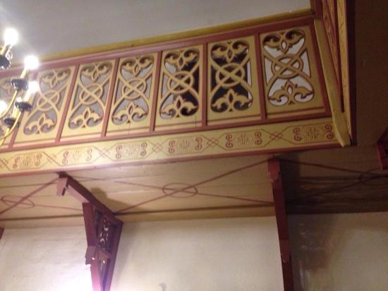 Hotel Krone : an example of intricate woodwork
