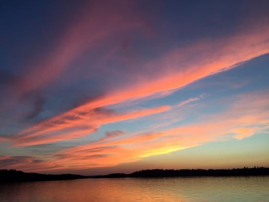 Ely, MN: Sunset on Burnside Lake from Camp Van Vac