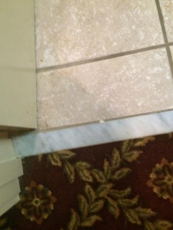 Parc England Boutique Hotel: dirty Bathroom floor