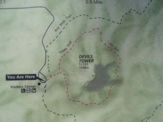 Devils tower trail map picture of devils tower national monument devils tower national monument devils tower trail map publicscrutiny Choice Image
