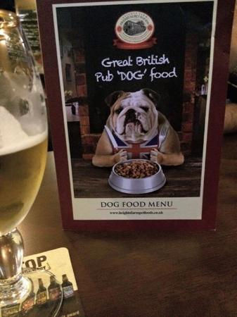 The dog menu