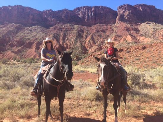 Horseback riding at the Red Cliffs Lodge in Moab.