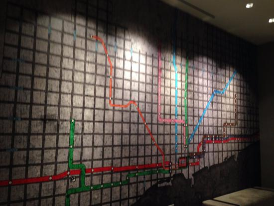 CTA Map mosaic - Picture of Renaissance Chicago Downtown Hotel ... Chicago Hotel Maps on