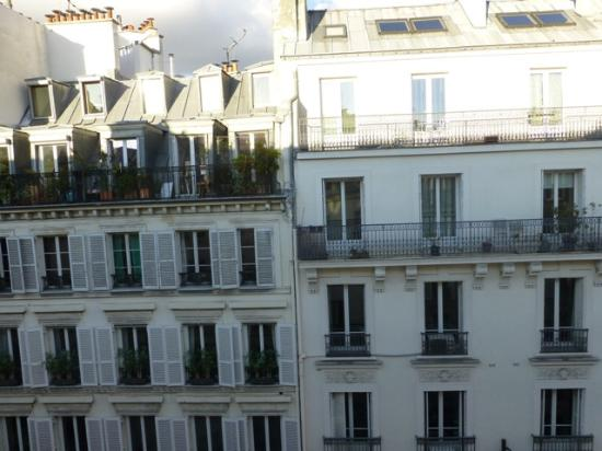 the view from room 55 picture of hotel france albion paris tripadvisor. Black Bedroom Furniture Sets. Home Design Ideas