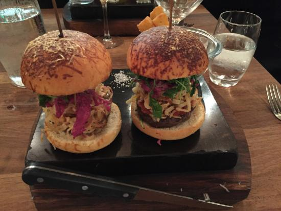 hamburgers with polenta fries picture of the rustic stone dublin