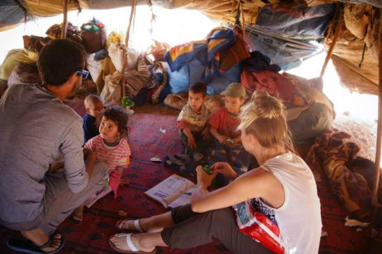 Regione di Grand Casablanca, Marocco: Visit nomads in the tent
