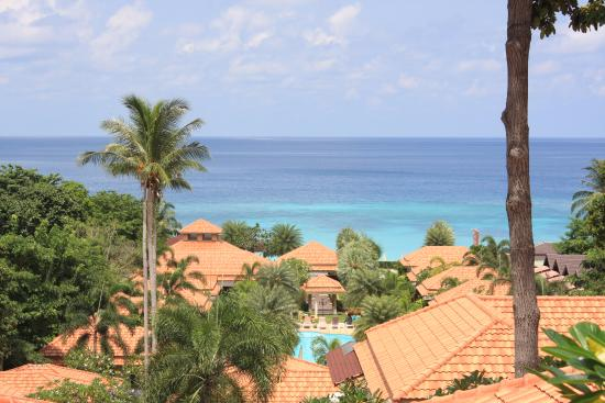 Sita Beach Resort & Spa: Вид с верхней площадки отеля