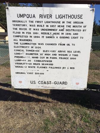Winchester Bay, Oregón: Lighthouse Description