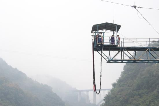 ‪‪Yichang‬, الصين: Bungee Jumping at Happy Valley‬