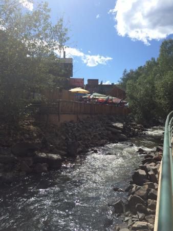 Cactus Jack's Saloon: Creek running behind the saloon