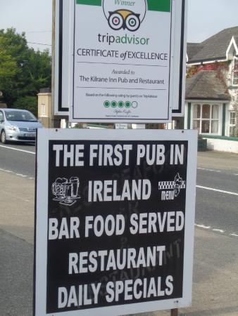 The Kilrane Inn Pub and Restaurant: bien dit