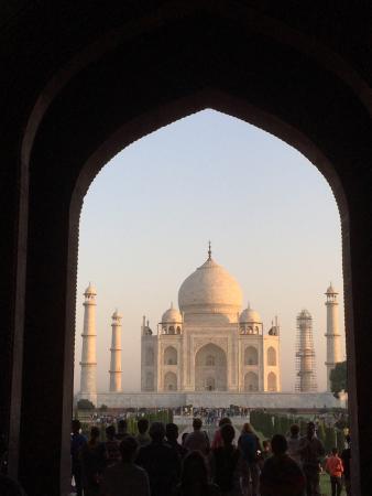 Besøg til Taj Mahal