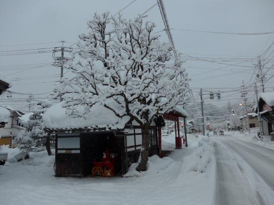 Hotel Alpha-One Takayama Bypass : ホテル周辺の道はすっかり雪で埋まってしまいました