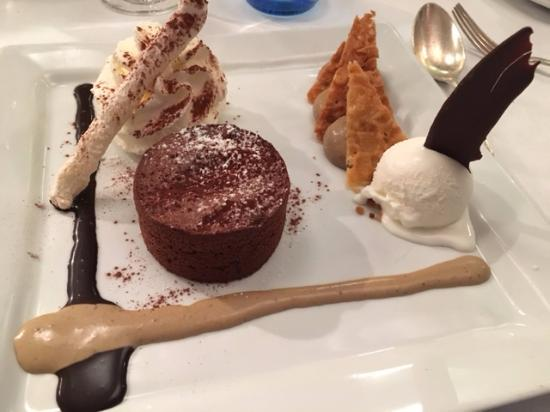 Restaurant La Bourride : fondant chocolat