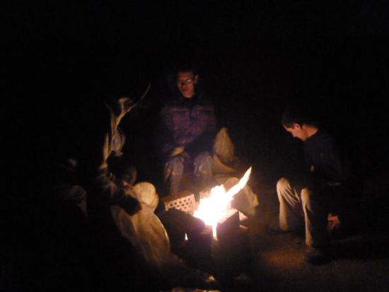 Anda Guesthouse : Bonfire with host family
