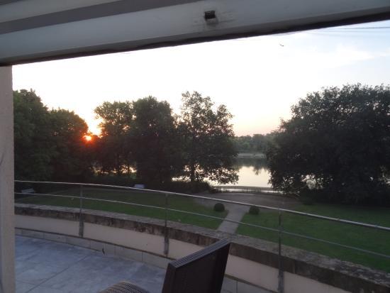 Storkau, Tyskland: Au petit matin de la chambre