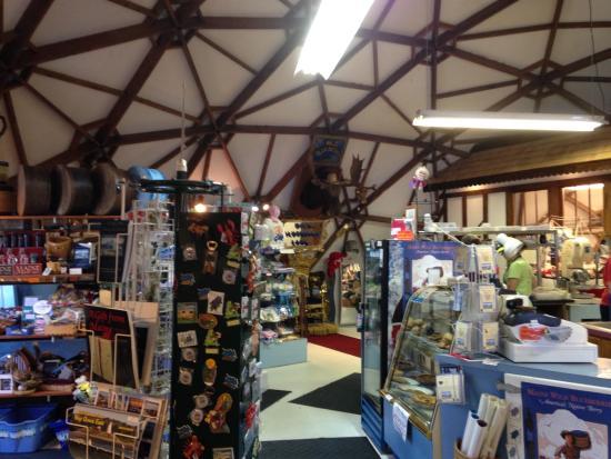 Columbia Falls, ME: inside store